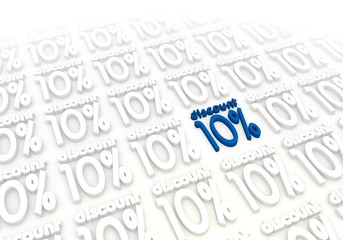 10 percentage discount icon in a stylish white background