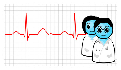 doctor and ecg curve