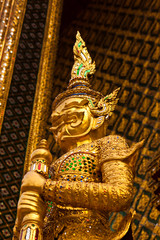giant statue at wat phra kaew bangkok of thailand