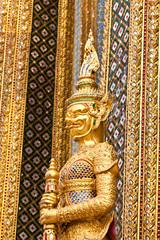 giant statue at wat phra kaew bangkok of thailand
