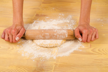 Working with a rolling pin