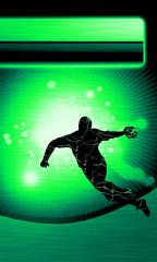 Fototapete - Handball shot