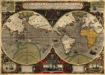 Wall Mural - World vintage map