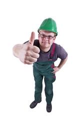 Bauarbeiter Daumen hoch