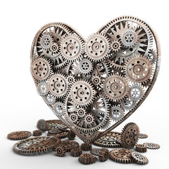 heart made of gears