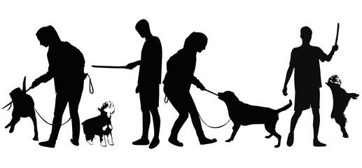 guy trained dog animals