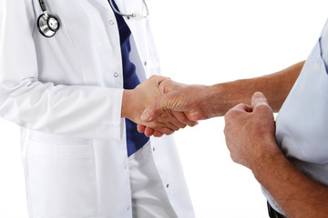 Handshake -  doctor and man