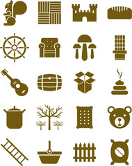 Brown icons