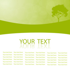 Green vector natural background with space for your text