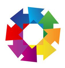 Abstract geometric arrows logo