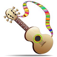 Hippy Cool Guitar Musical Instrument-Chitarra Strumento Musicale