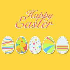Happy easter eggs. Vector design.