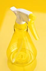 plastic spray bottle empty yellow