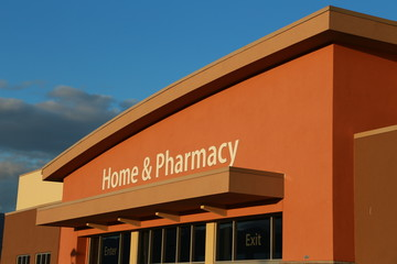 Home and pharmacy sign