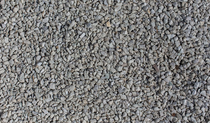 Ground covered in white rocks