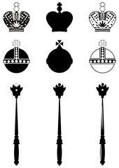 The attributes of the King.