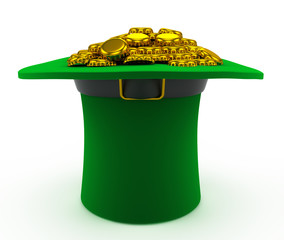 leprechaun hat for St. Patrick's Day, with beer caps
