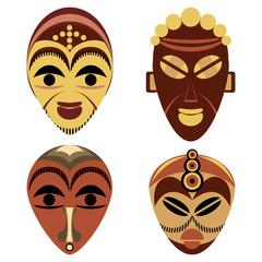 African mask set