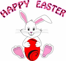 Happy Easter With Easter Bunny
