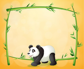 A panda and the empty green frame