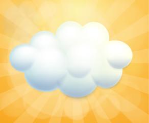A white cloud