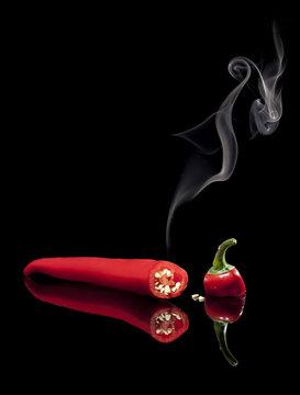 Smoking Hot Red Chili Pepper