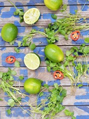 lime and coriander