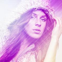 Aluminium Prints Painterly Inspiration Beautiful fashion woman. Color face pop art photo toned pink.