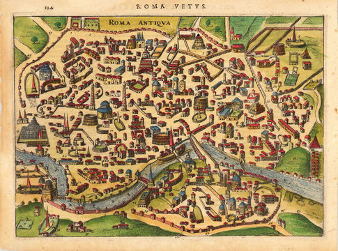 Rome medieval map