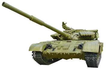 Russian tank isolated on white