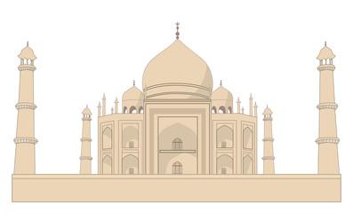 Taj Mahal, isolated on white