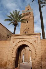 The Koutoubia mosque in Marrakesh (Morocco)
