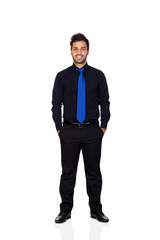 Young businessman with blue tie