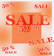 Sale 50 percent of autumn
