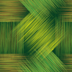 Seamless pattern with  stripes in green, yellow and brown colors