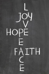 joy hope faith and love crosswords