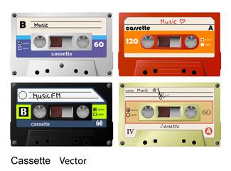 Cassette vector music retro