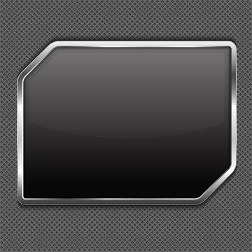 Black frame on a metal background