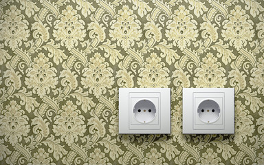 Electric outlets on wall