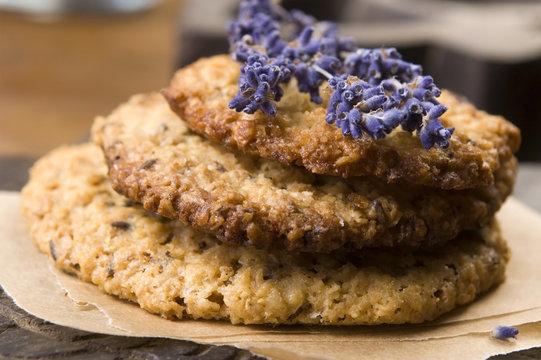 Handmade lavender cookies