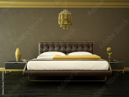 Schlafzimmer Braun Gold