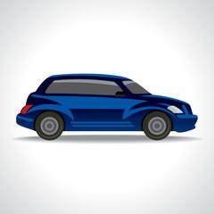 Vector illustration of blue car
