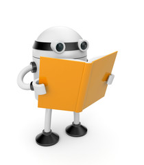Robot read the book