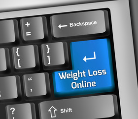 "Keyboard Illustration ""Weight Loss Online"""