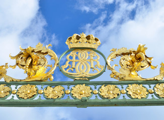 Gate of Drottningholms garden in Stockholm - Sweden