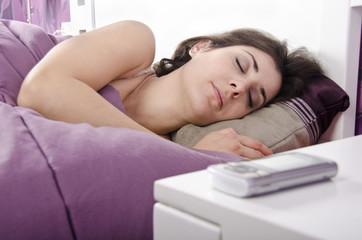 Descanso merecido cerca del móvil.¿Es sano?