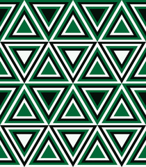 Door stickers ZigZag Fashion pattern with triangles