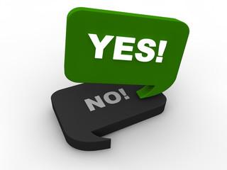 Entscheidung - yes