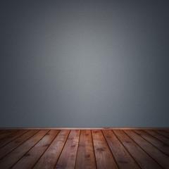 Vintage empty room and wooden floor interior background