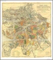 Petersburg vintage map